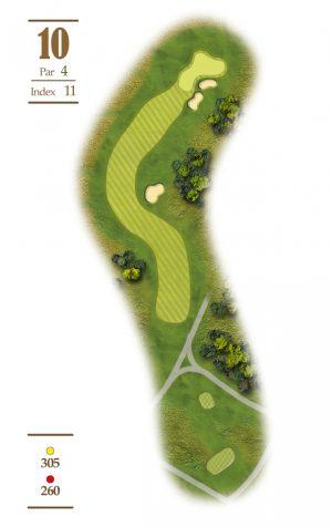 Norrby Golf översikt Hål 10