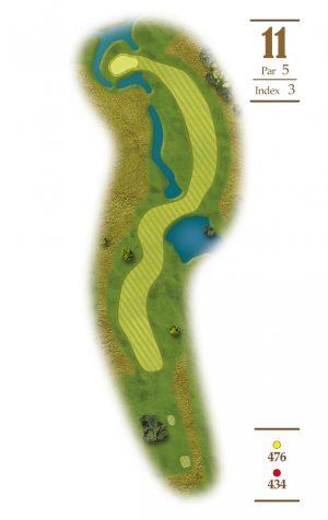 Norrby Golf översikt Hål 11