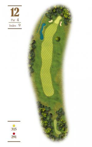 Norrby Golf översikt Hål 12