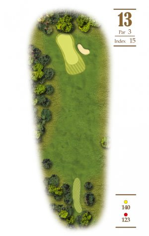 Norrby Golf översikt Hål 13