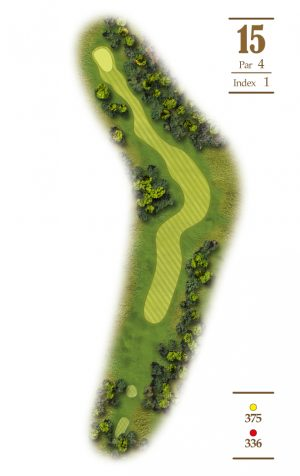 Norrby Golf översikt Hål 15