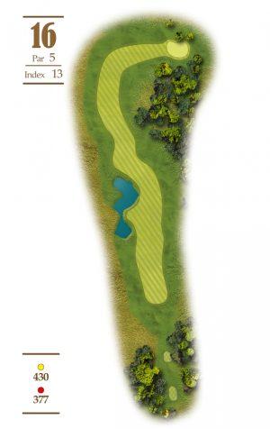 Norrby Golf översikt Hål 16