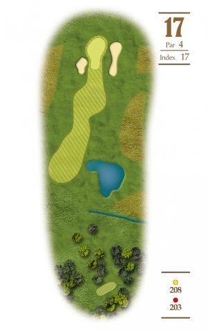 Norrby Golf översikt Hål 17