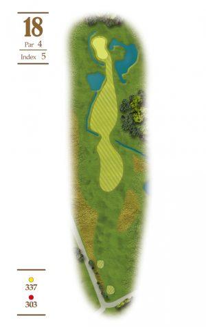 Norrby Golf översikt Hål 18