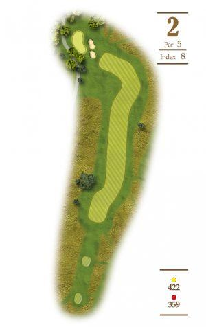 Norrby Golf översikt Hål 2