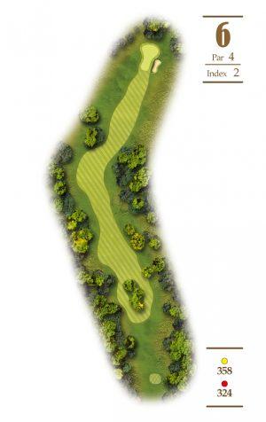 Norrby Golf översikt Hål 6