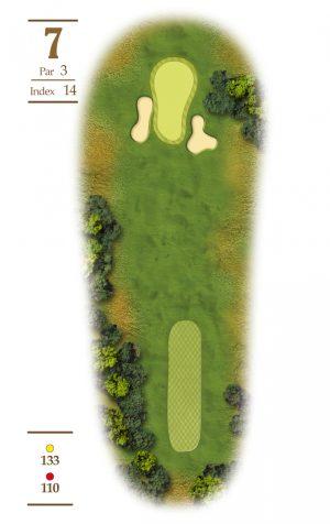 Norrby Golf översikt Hål 7