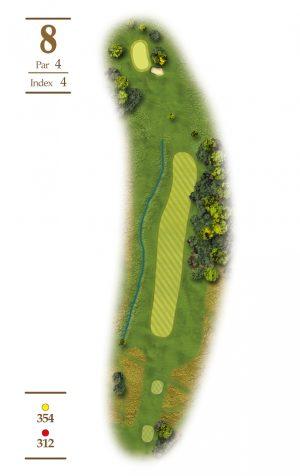 Norrby Golf översikt Hål 8