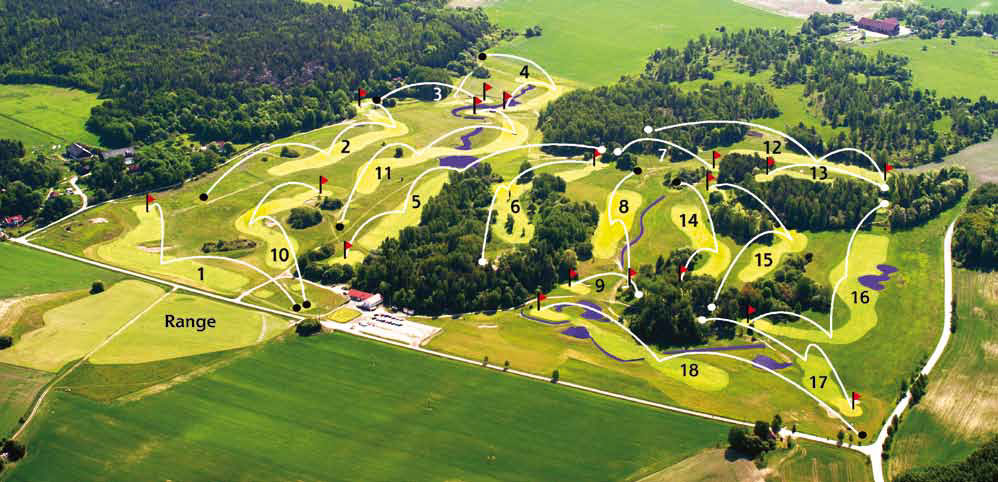 Norrby Golf banöversikt